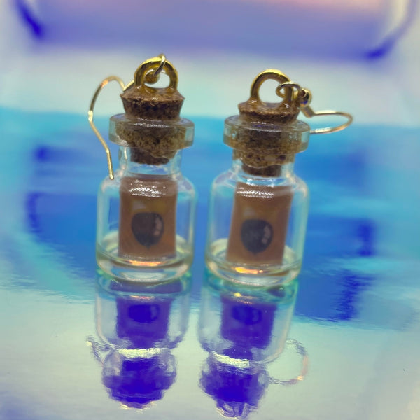 DIY Message Bottle Earrings
