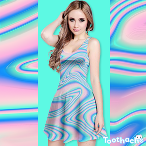 Pastel Wave Dreamer Dress - Reversible