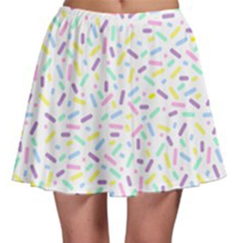 Sprinkle Party Skater Skirt - Vanilla
