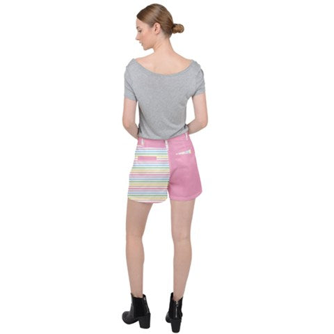 Pastel Rainbow Stripes Shorts