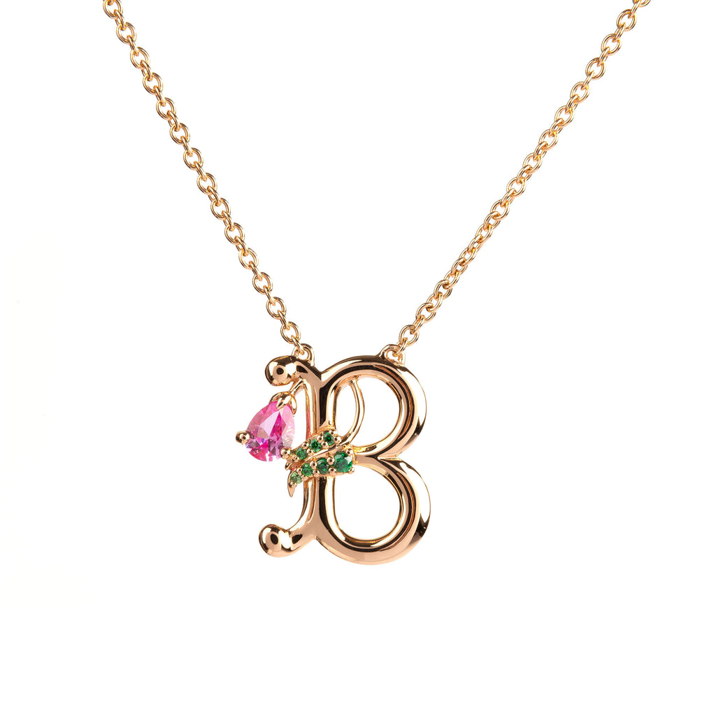 ROSY ALPHABET NECKLACE B