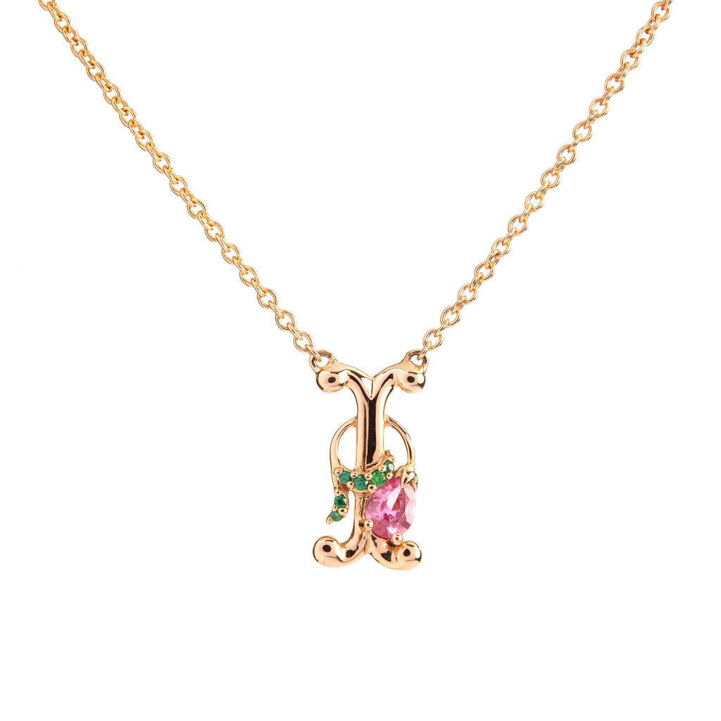 ROSY ALPHABET NECKLACE I