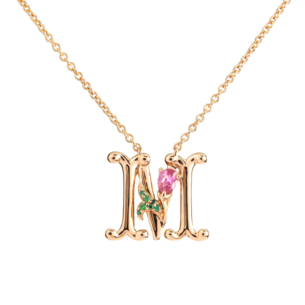 ROSY ALPHABET NECKLACE M