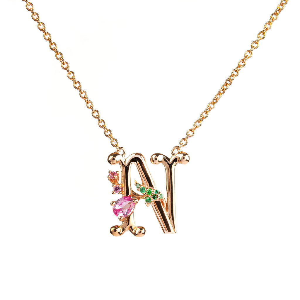 ROSY ALPHABET NECKLACE N