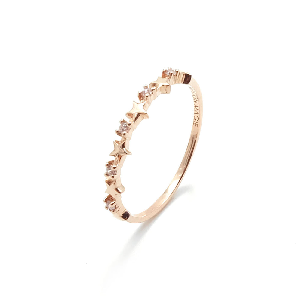 TWINKLE STAR RING (ROSE GOLD)