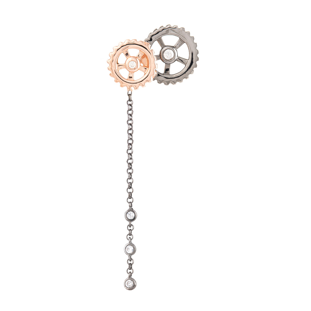 LET'S SPIN EARRING WITH CHAIN