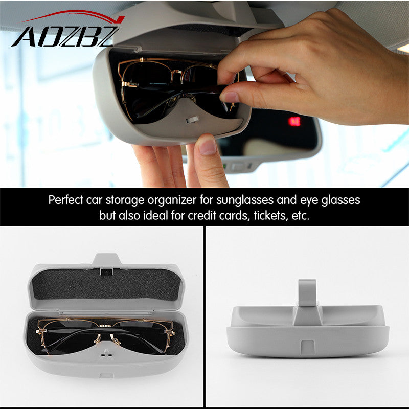 ea90fdc2fe6 AOZBZ Car Sun Visor Glasses Box Sunglasses Storage Holder Clip Automotive  Accessories Sunglasses Protective Case