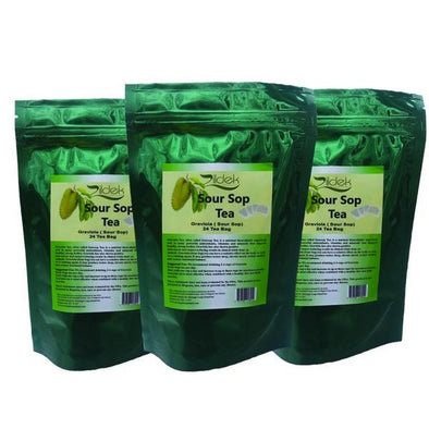 3 Pack Sour Sop Tea 24 teas per bags