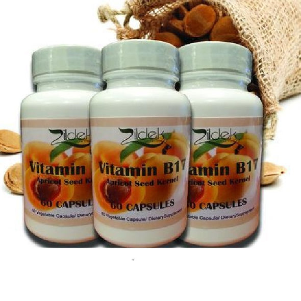 Apricot Seed Capsules (Vitamin B17) 3 bottles