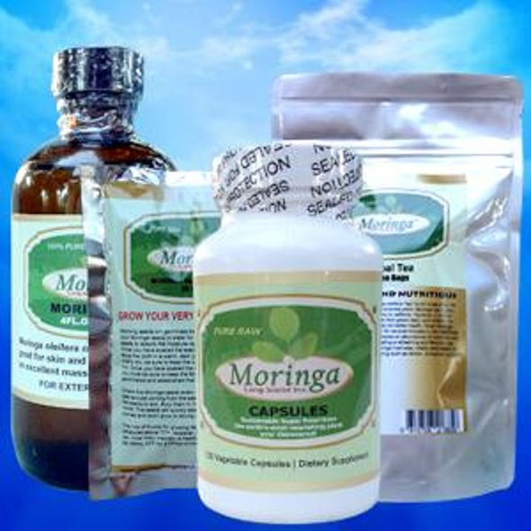 The Moringa Pack- Tea/Oil/Seeds/Capsules