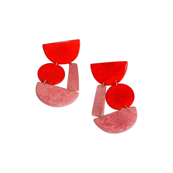 Red Jorge earrings