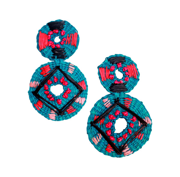 Turquesa blue earrings