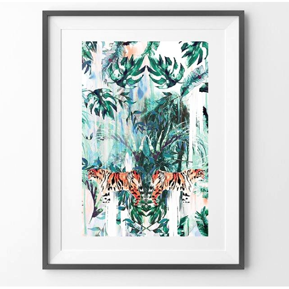 Tiger Jungle Animal Art Print