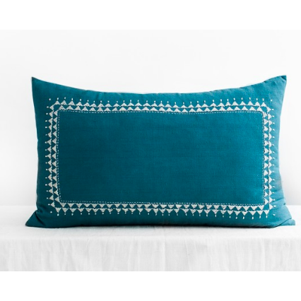 Clea Indigo Blue Soft Square Cushion