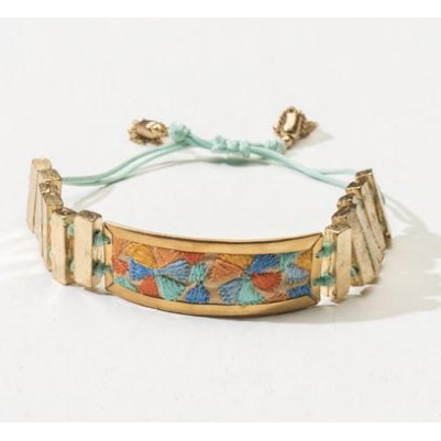 Sunehri Embroidered Gold Bracelet