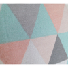 Geometric Cushion In Green, Grey, Pink and White