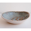 Ceramic Soap Dish In Blue and Brown