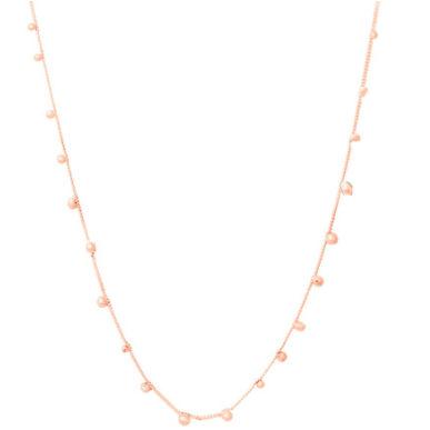 Shooting Stars Rose Gold Single Strand Necklace