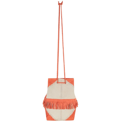 Frida Papaya Orange Tassel Shoulder Bag