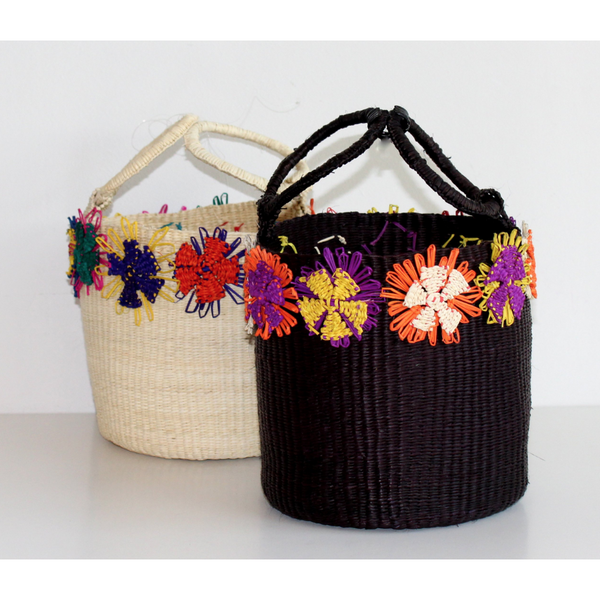The Flower Bucket Straw Bag