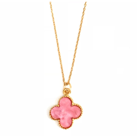 Good Luck Clover Pendant Necklace- Variety Of Colours