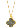 Good Luck White Clover Pendant Necklace