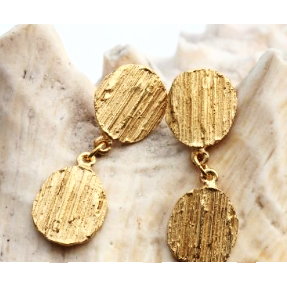 Double Drop Earrings - 18ct Gold Plated