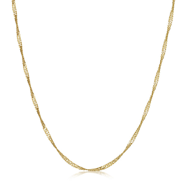 Amberta Gold Plated Silver Singapore Chain