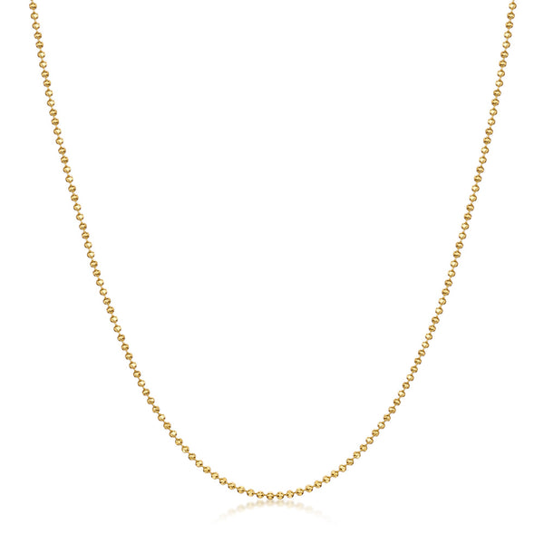 Amberta Gold Plated Silver 1.2 mm Ball Chain