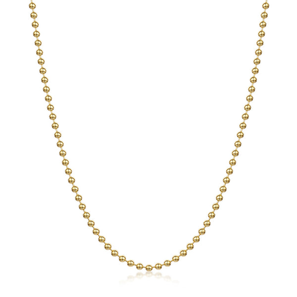 Amberta Gold Plated Silver 2 mm Ball Chain