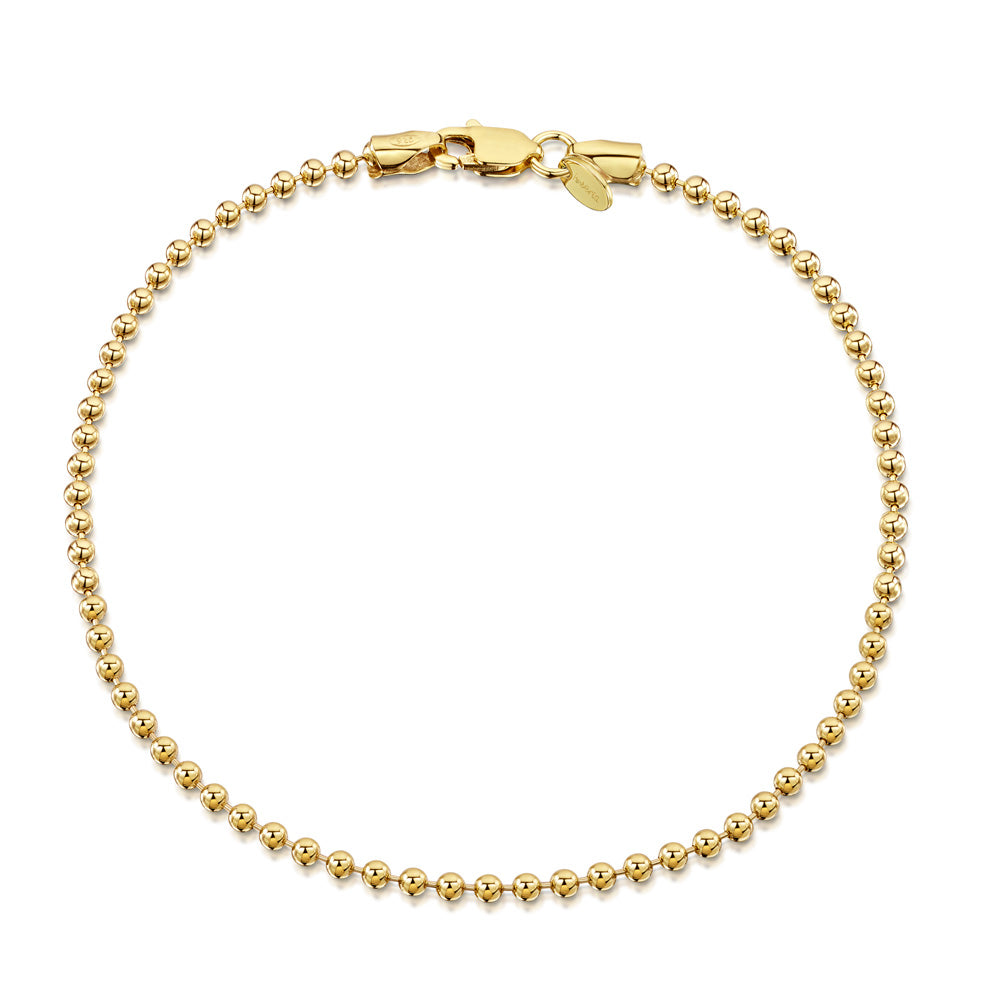 Amberta Gold Plated Silver Ball Bracelet
