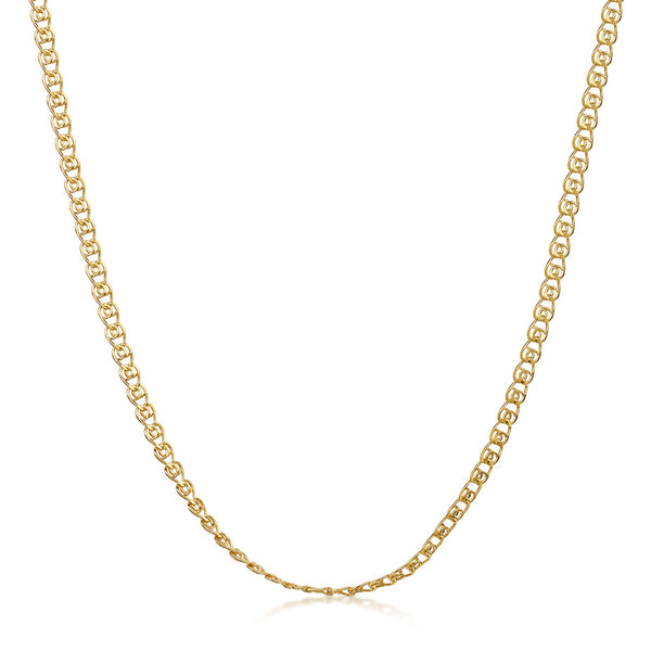Amberta Gold Plated Silver Heart Chain