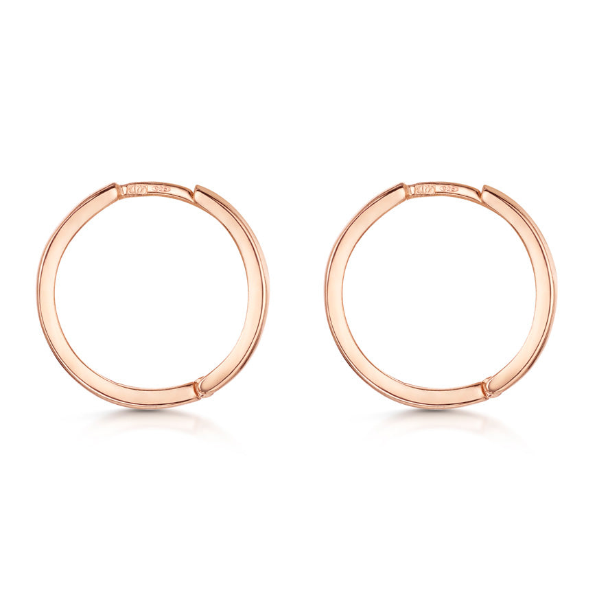 Silver 20 mm Huggie Hoop Earrings