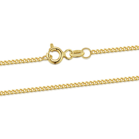 Gold 1.4 mm Curb Chain Necklace