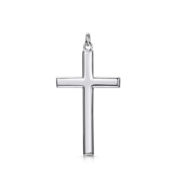 Amberta Silver Large Cross Pendant