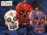 Dia Los Muertos Glass Gingerbread Skull Cookie Set