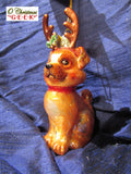Adorable Glass Dog with Antlers