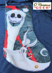 Nightmare Before Christmas Jack Skellington and Zero Stocking