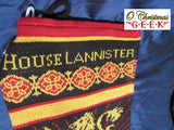 Game of Thrones Knitted House Christmas Stocking Set