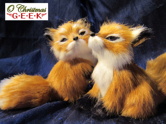 Fuzzy Red Fox Ornament