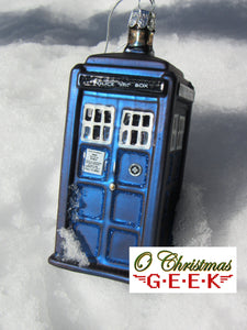 Doctor Who Glass TARDIS Ornament