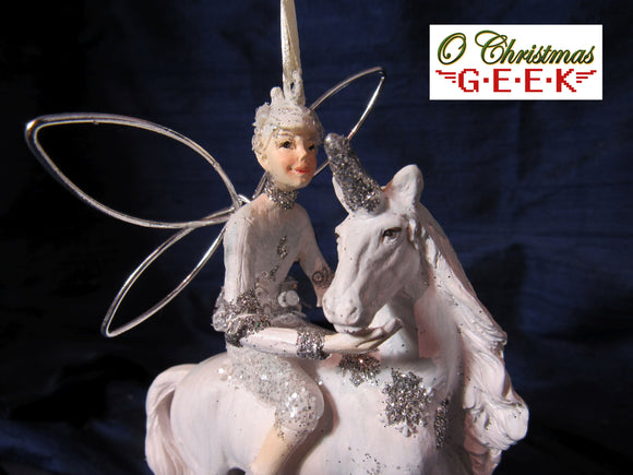 Fairy and Unicorn Ornament