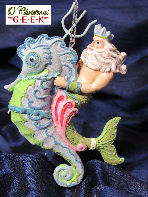Miami Modern/Deco Merman Ornament