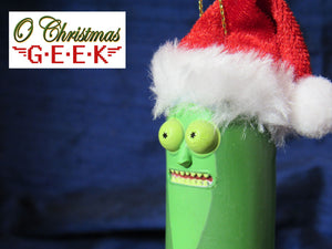 Rick and Morty Christmas Pickle Rick Ornament
