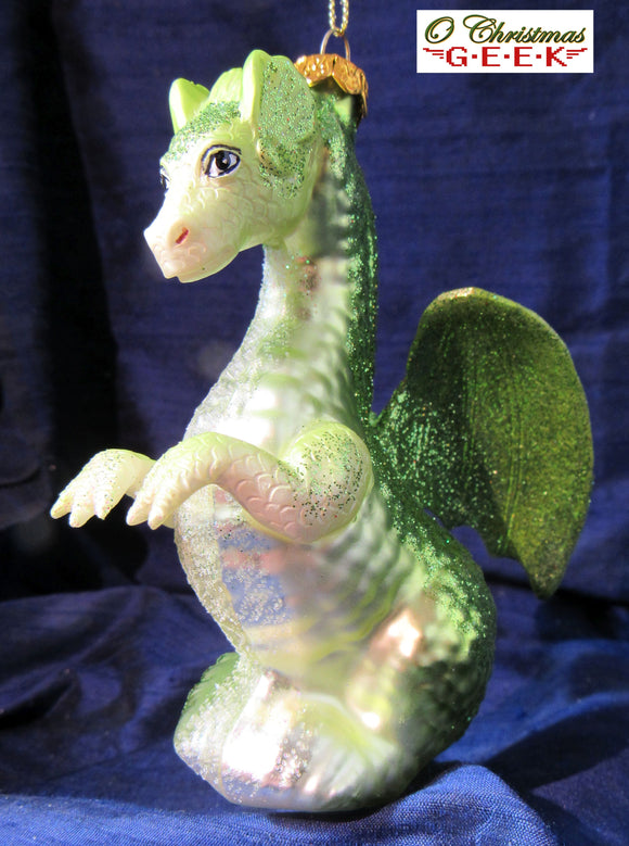 Green Glass Dragon Ornament