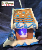 Hanukah LED Gingerbread House Ornament