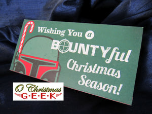 Mandalorian Christmas Table Sign