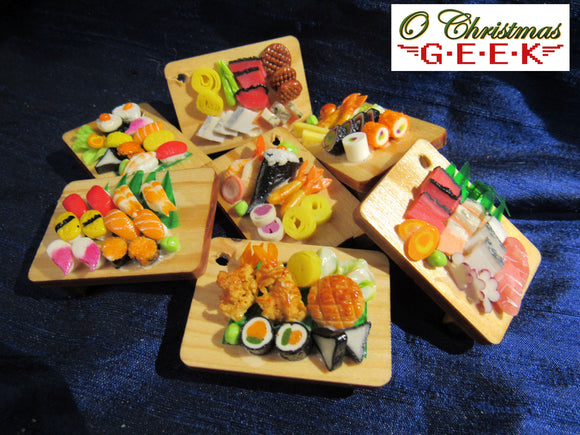 Sushi Board Miniature Ornaments