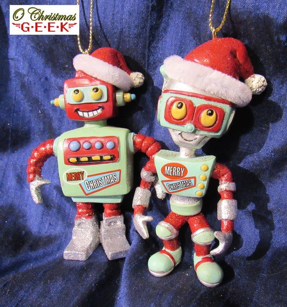 Mid-Century Modern Robot Ornaments