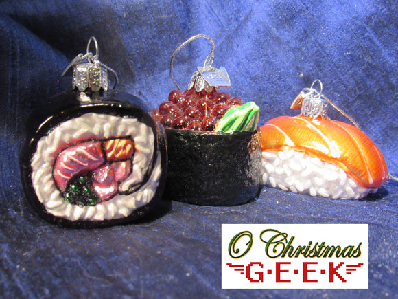 Sushi Glass Ornaments